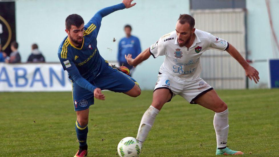 Partido de fútbol Segunda B entre Boiro y Celta B.