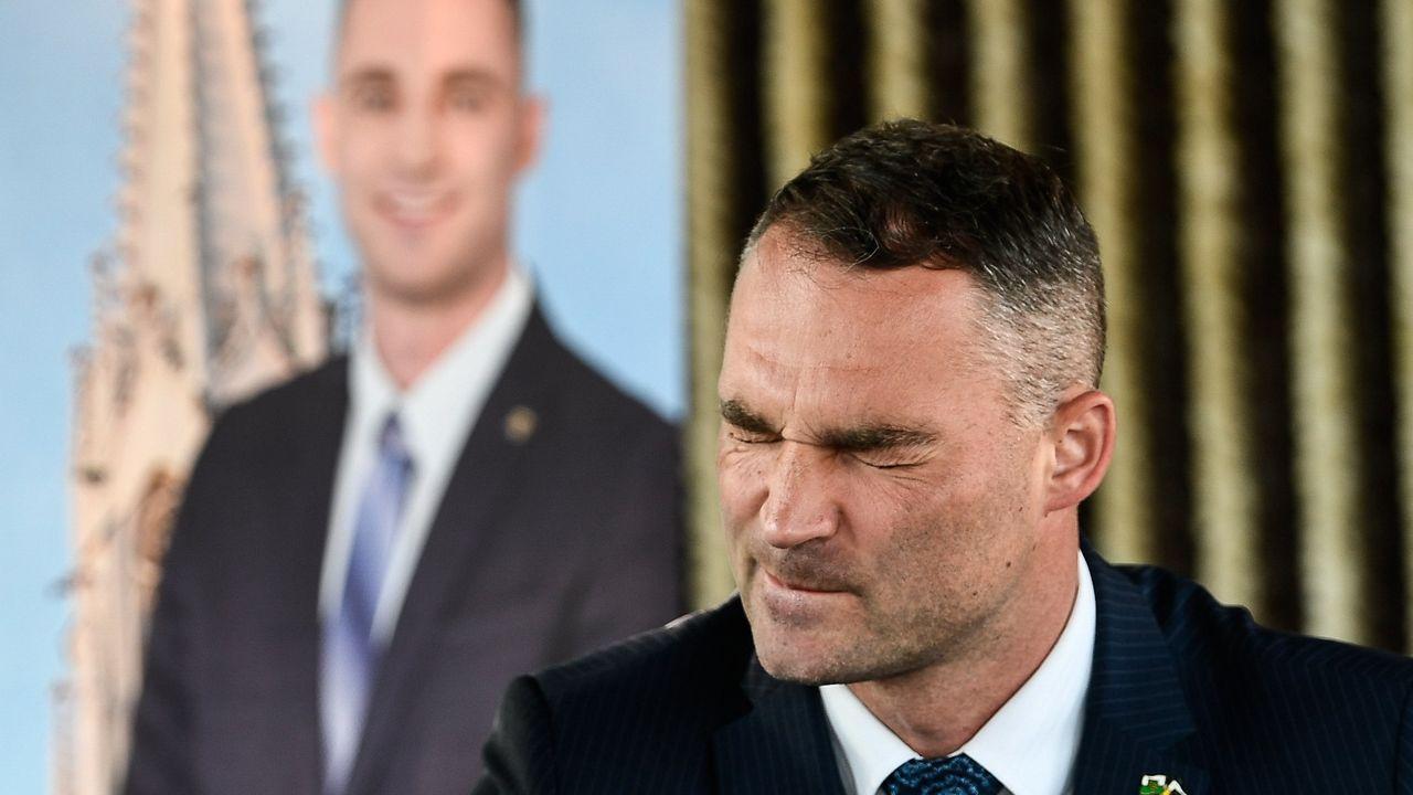 El candidato a la alcaldía por AfD, Sebastian Wippel, tras conocerse los primeros resultados