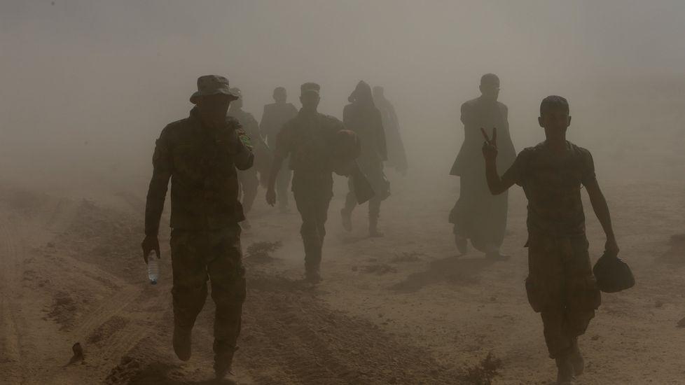 Aviones estadounidenses parten del «ISS Dwight D. Eisenhower» hacia Mosul