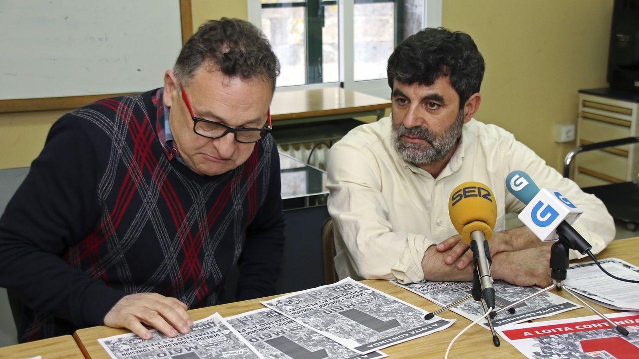 Las movilizaciones del 1 de mayo en Galicia.Vista de la manifestación convocada por CCOO y UGT de Asturias en Langreo (Asturias), con motivo del Día Internacional del Trabajo bajo el lema  Tiempo de ganar: igualdad, mejor empleo, mayores salarios, pensiones dignas