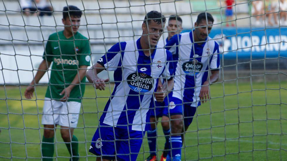 El Racing-Dépor, en imágenes.Ariel Rodríguez, durante un entrenamiento con el Racing de Ferrol