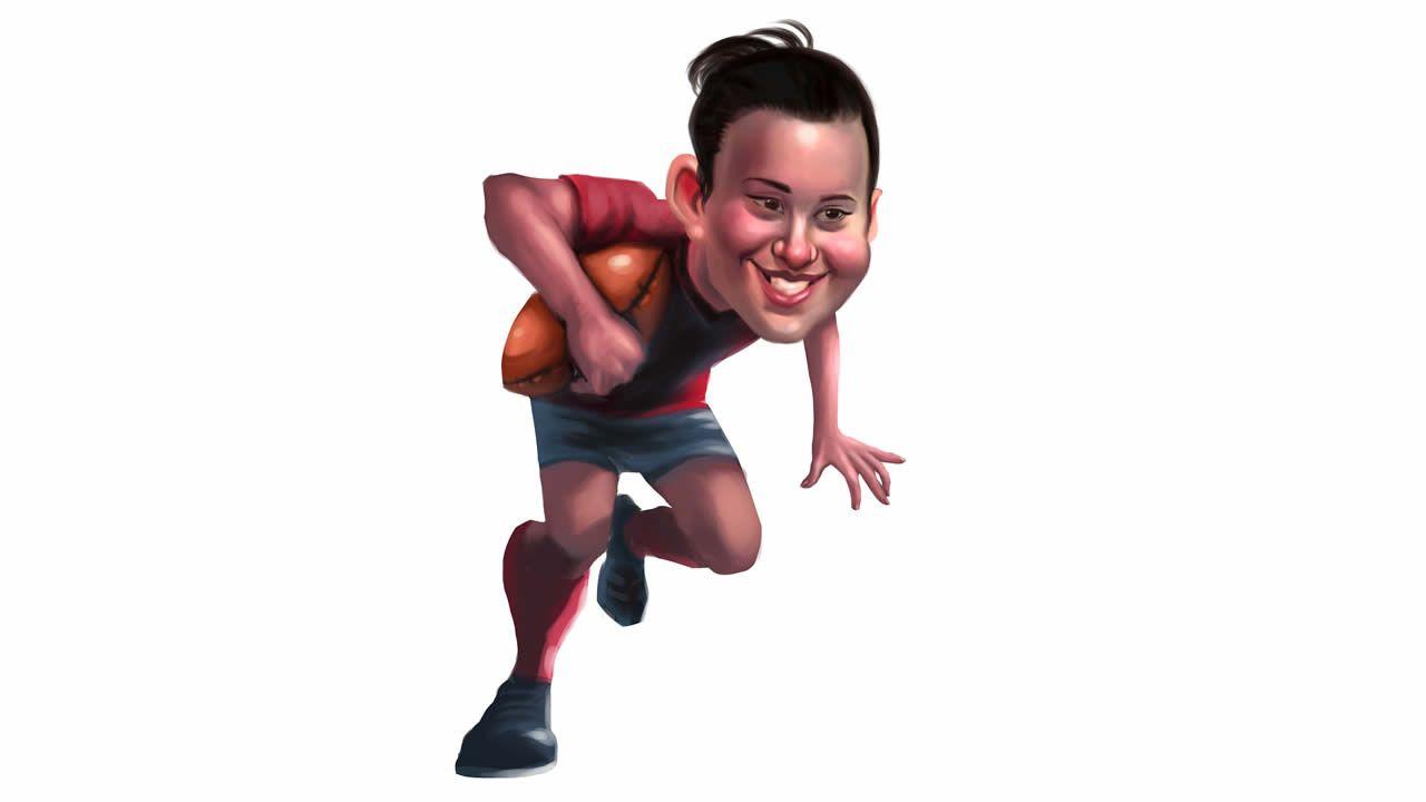 Búscate en la popular 10K y maratón Coruña42.Mónica Castelo, jugadora del CRAT y campeona de Europa de rugbi