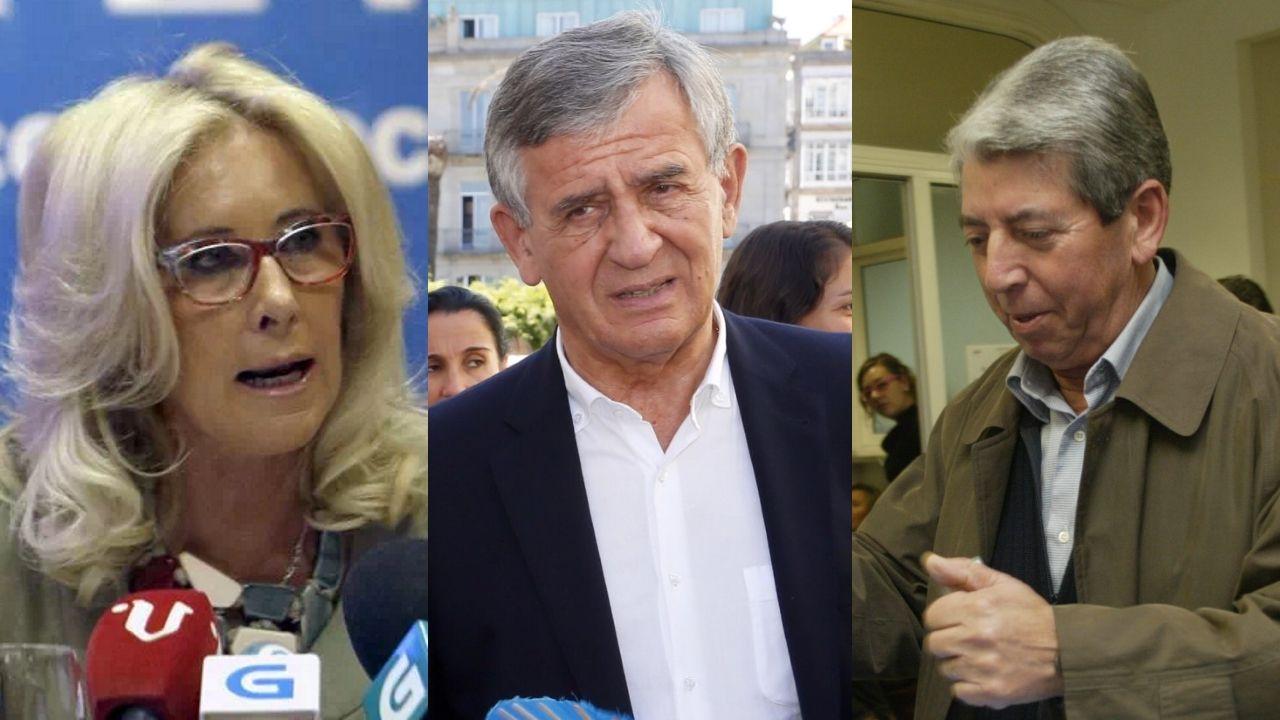 Quién es quién: Las principales dimisiones tras las municipales.Corina Porro, Manuel Pérez y Juan Corral, excandidatos del PP en Vigo