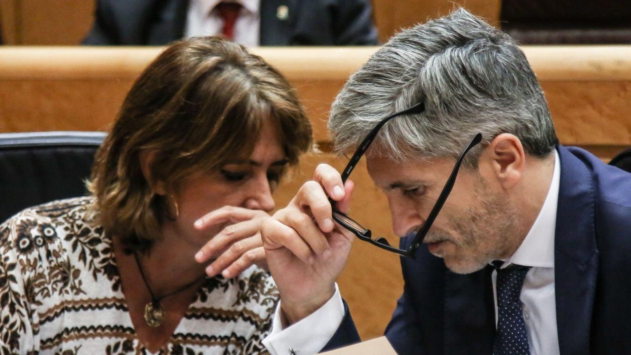 | EFE.El ministro del Interior, Fernando Grande Marlaska junto a la ministra de Justicia, Dolores Delgado