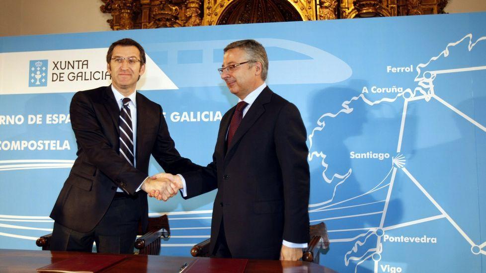 Feijoo y José Blanco pactaron en el 2009 que el AVE por Cerdedo estuviese concluido en el 2015