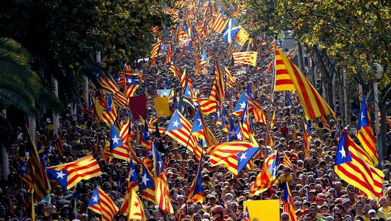 Cataluña celebra la Diada