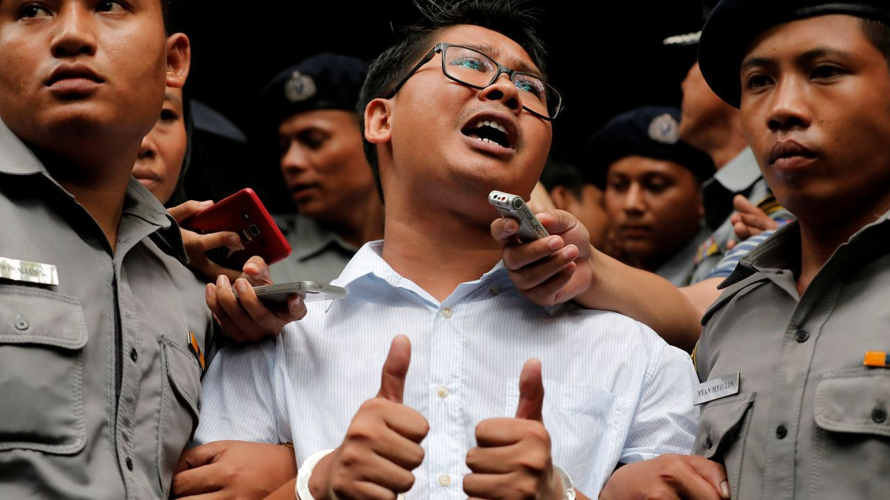 Wa Lone, uno de los dos periodistas de Reuters condenados