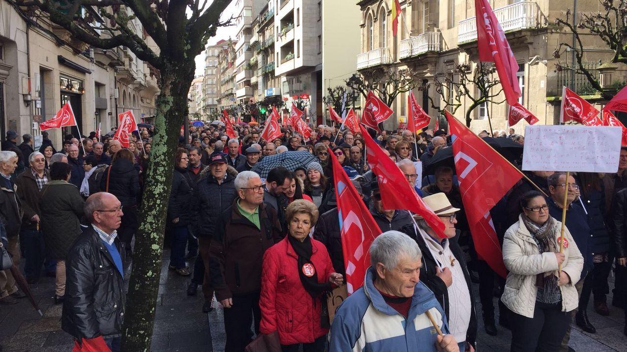 .Manifestación por las calles de Ourense