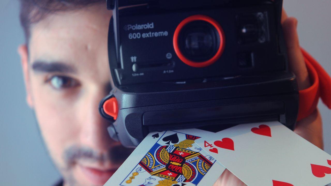 Detalle da montaxe «Commedia», da compañía Contraproducións