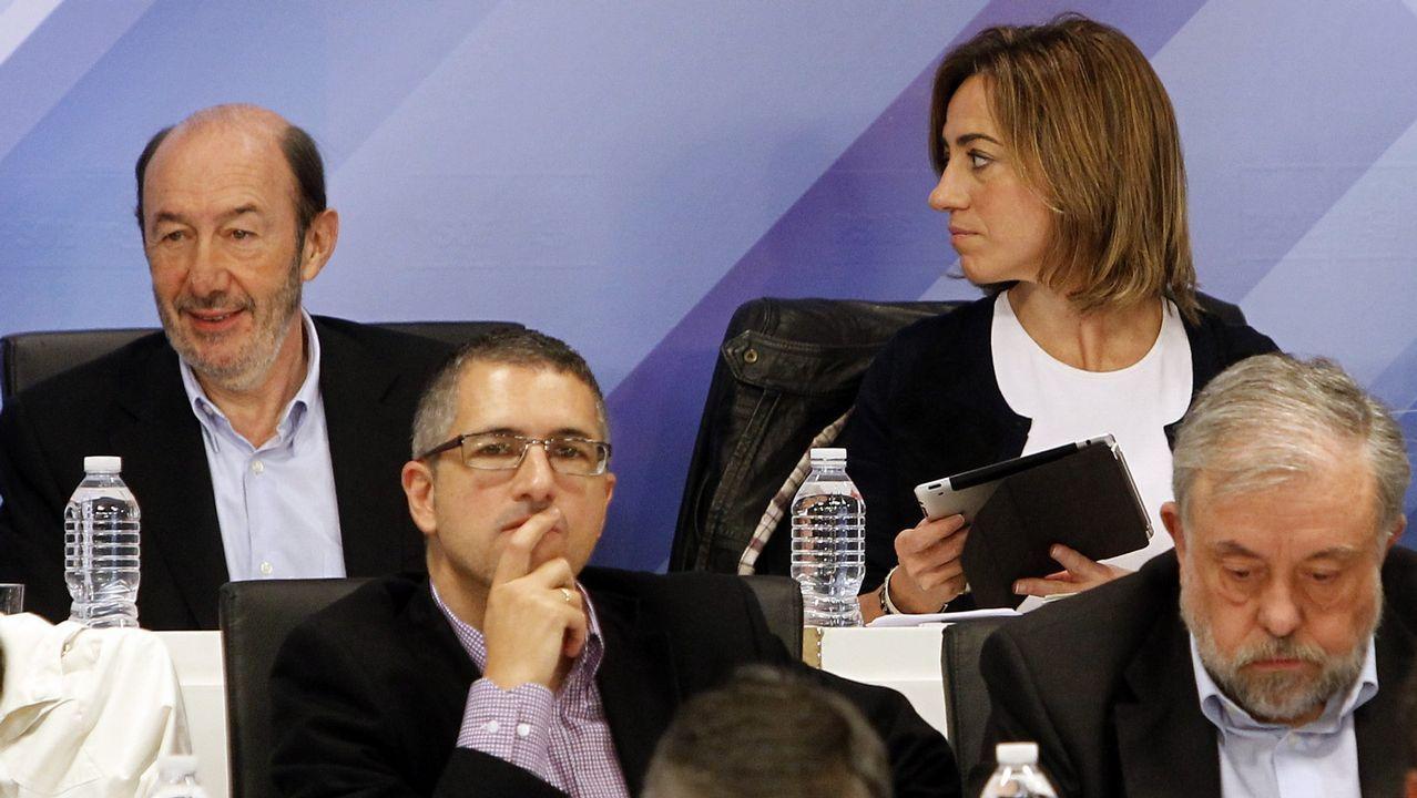 Reunión de la Ejecutiva socialista tras la derrota en las generales del 2011