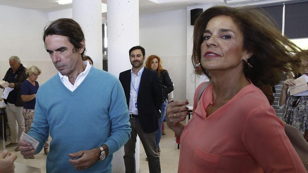 .Ana Botella, tras votar el domingo en Pozuelo de Alarcón