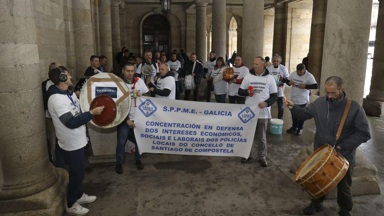 Francisco García, de la Policía Local de Santiago