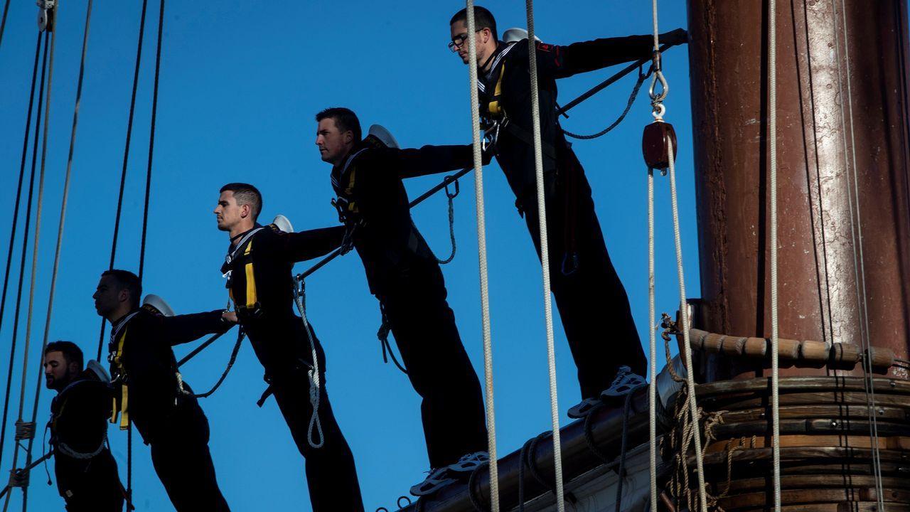 Tripulantes del buque Escuela Juan Sebastián de Elcano