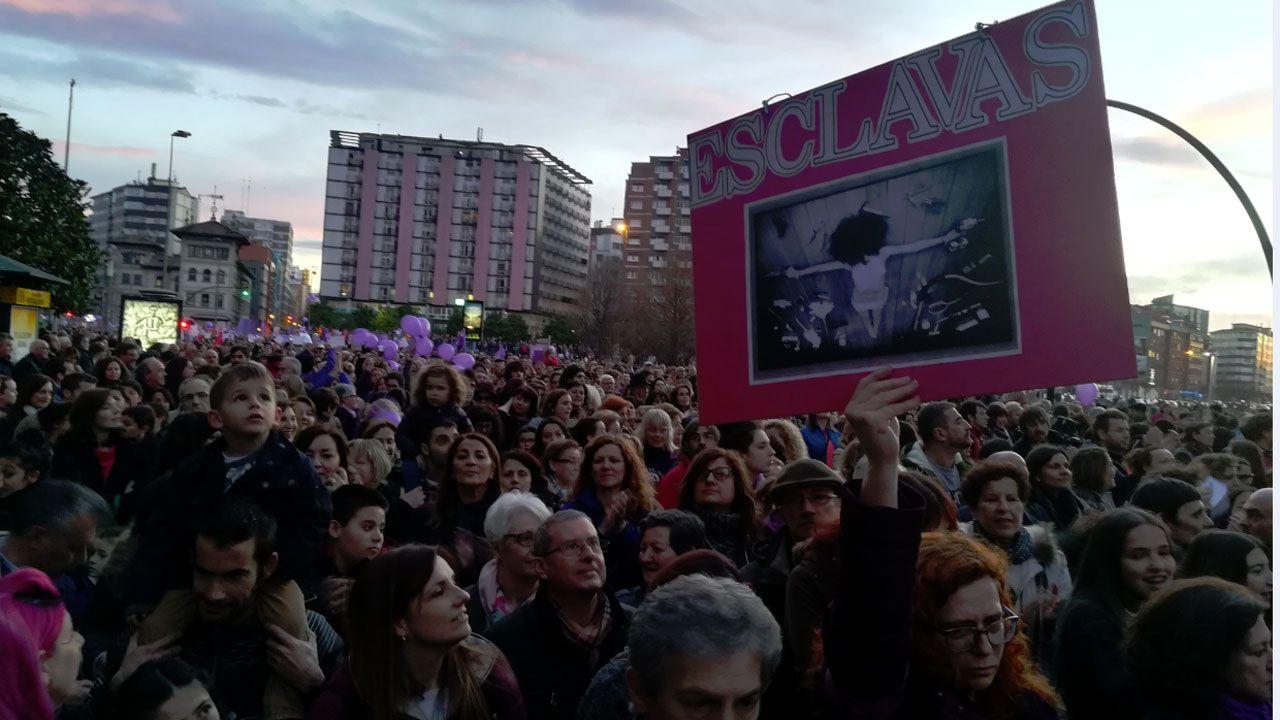 .Un momento de la manifestación