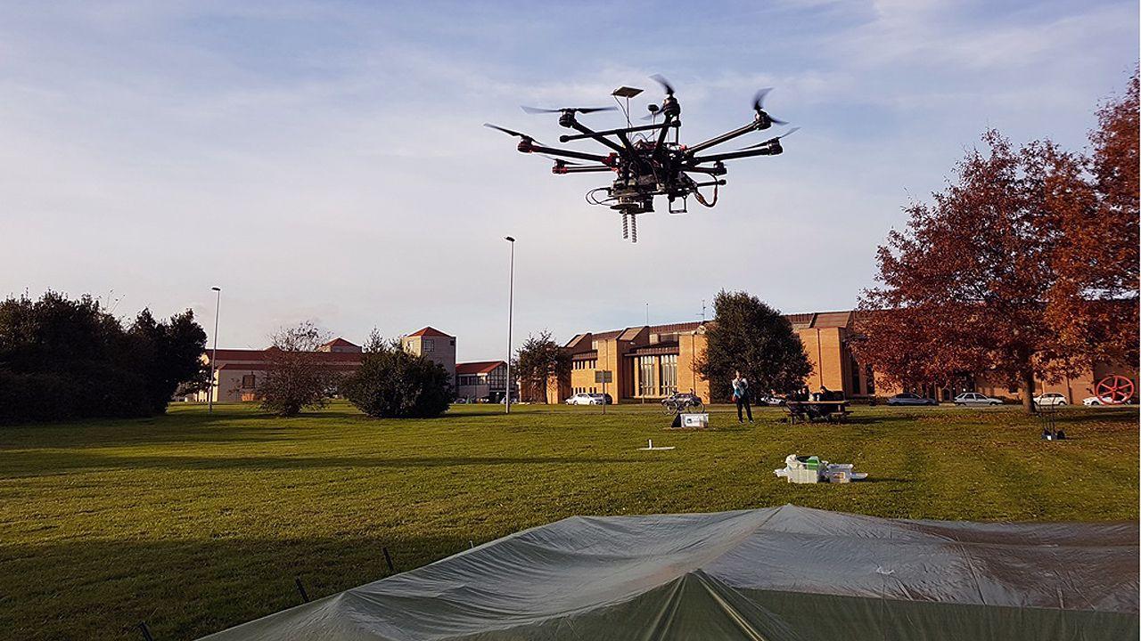 Un dron para localizar minas antipersona.Reproducción de un neandertal del Museo de Düsseldorf