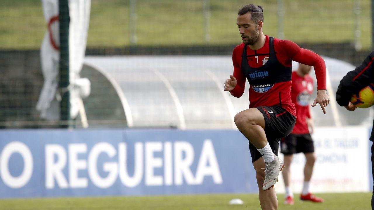 El asturiano Martín López-Vega.Natxo González no sabe cuándo podrá contar con los cuatro lesionados de la plantilla