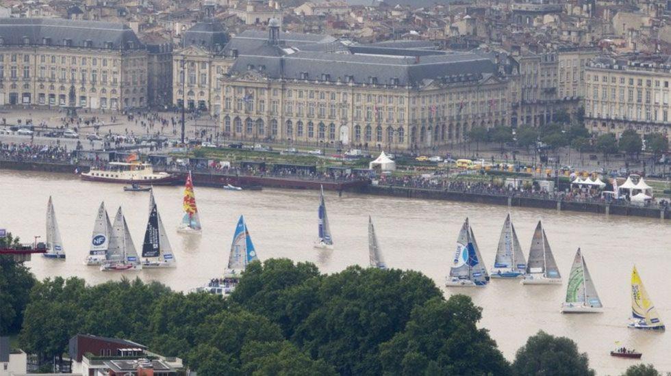 Participantes en la regata La Solitaire URGO Le Figaro, hoy en Burdeos