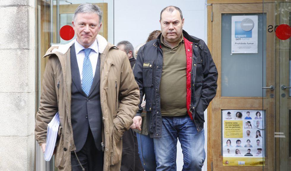 Multisport 2019, así fue la inauguración.El gerente de Espectáculos Lito (derecha), a la salida de un juicio en Pontevedra.