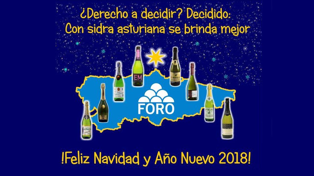 .Felicitación navideña de Foro Asturias