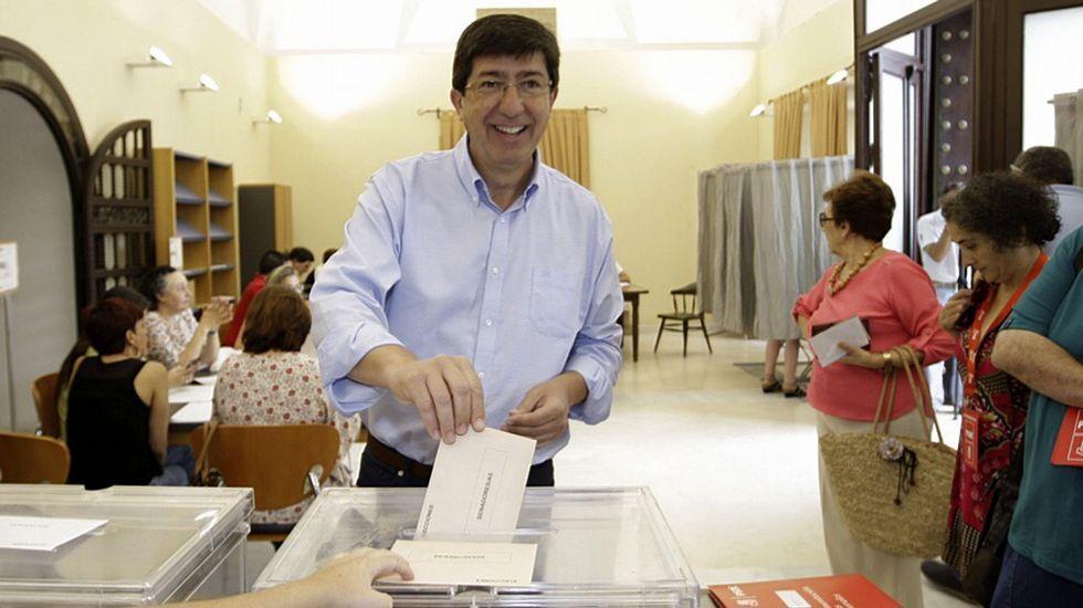 .El presidente y portavoz de Ciudadanos en Andalucía, Juan Marín