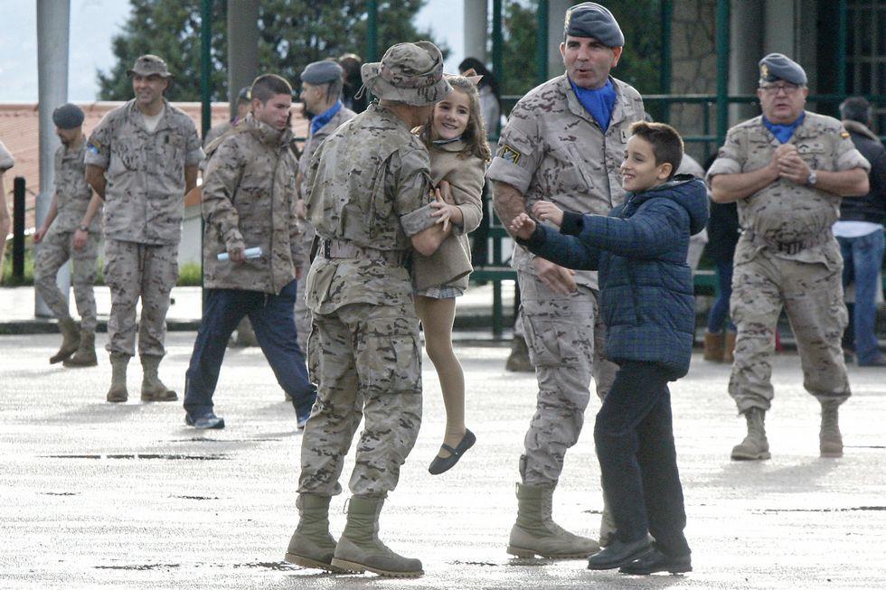 Despedida de un contingente de la Brilat en Figueirido el pasado 20 de noviembre que fue desplegado en Afganistán.