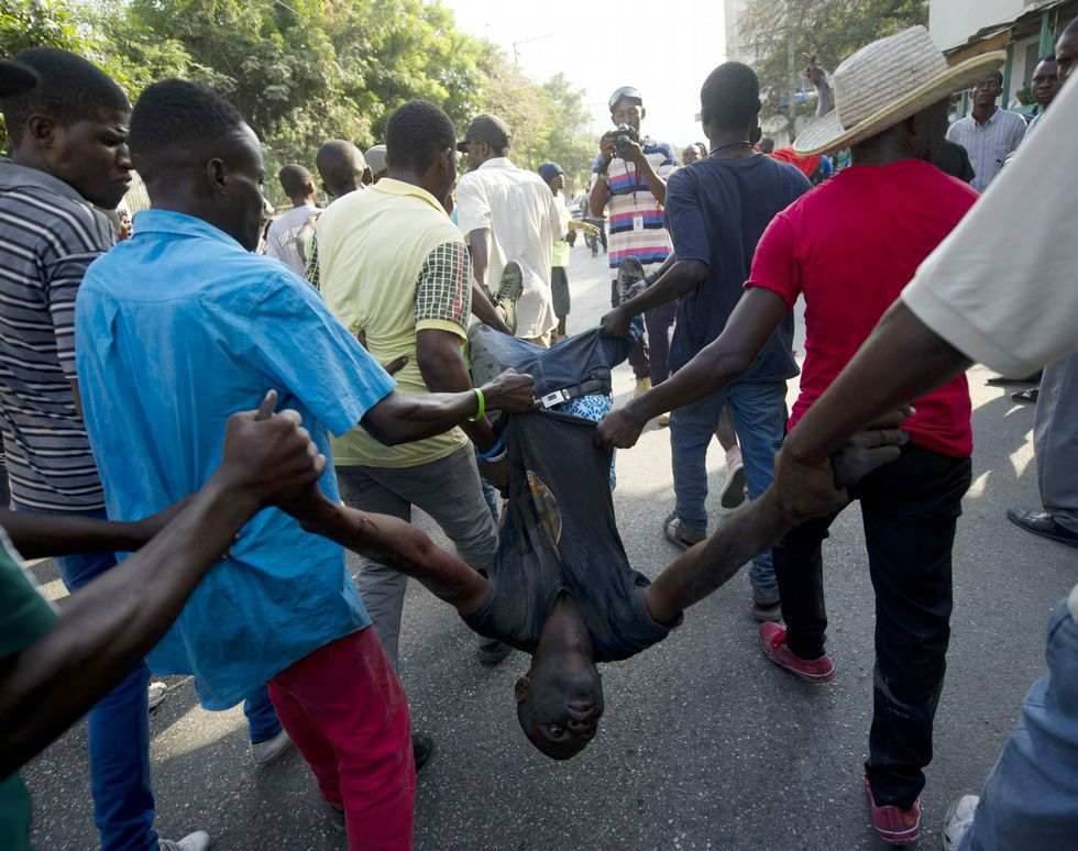 .Las protestas contra el Gobierno de Michel Martelly se han repetido en los últimos días por las calles de Puerto Príncipe.
