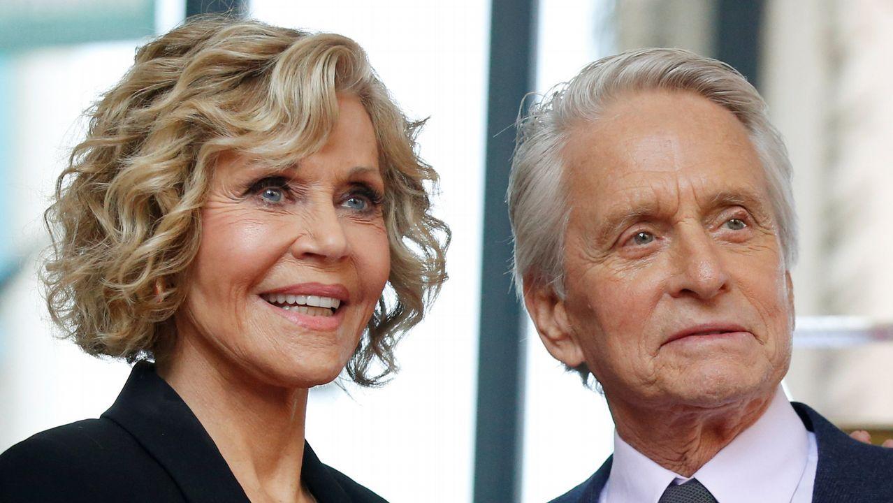 Jane Fonda y Michael Douglas