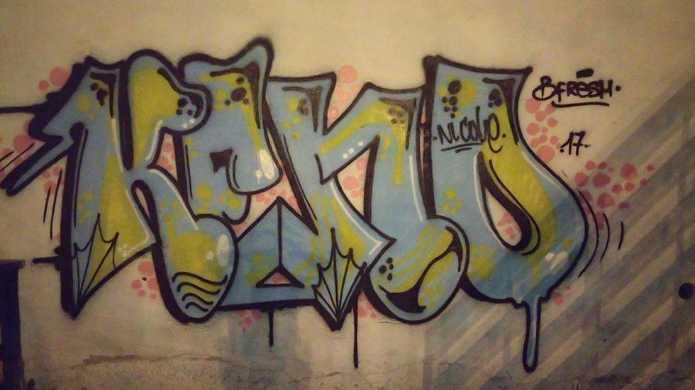 Grafiti en Oviedo