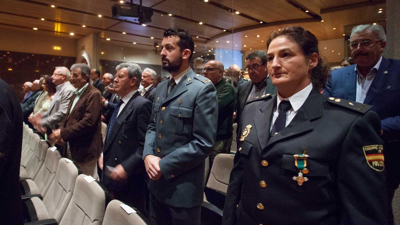 Celebración del día de la Policía Nacional en Lugo.Diego y Cristina, en el corredor de Monforte, donde sufrieron un grave accidente en el año 2010