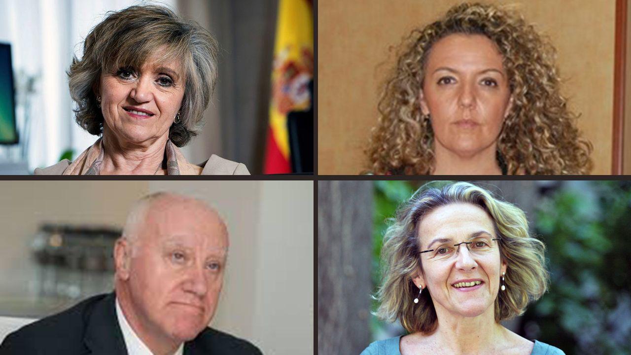 María Luisa Carcedo, Teresa Mallada, Faustino Blanco y Paz de Andrés