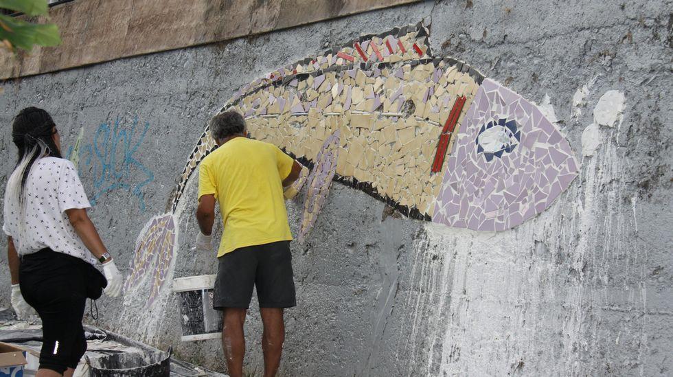 Alrededor de 500 personas participaron en la elaboración del mural