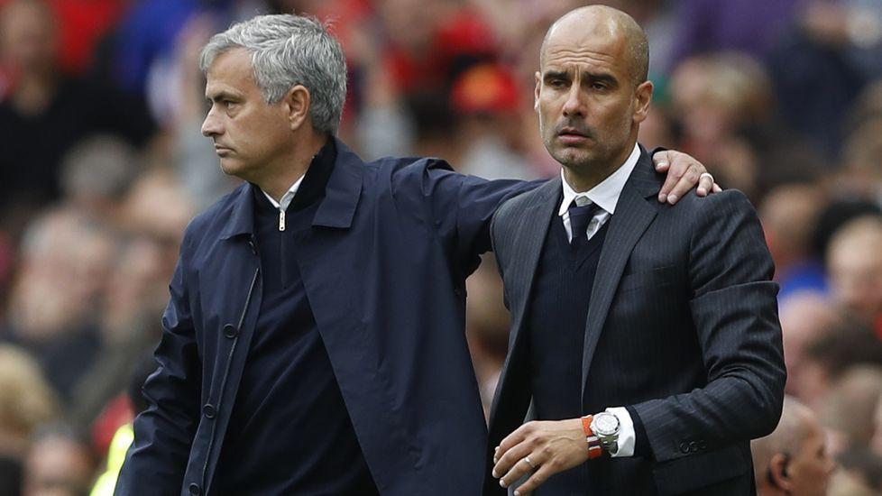 City - United, en imágenes.Mourinho, tras ser expulsado la pasada jornada