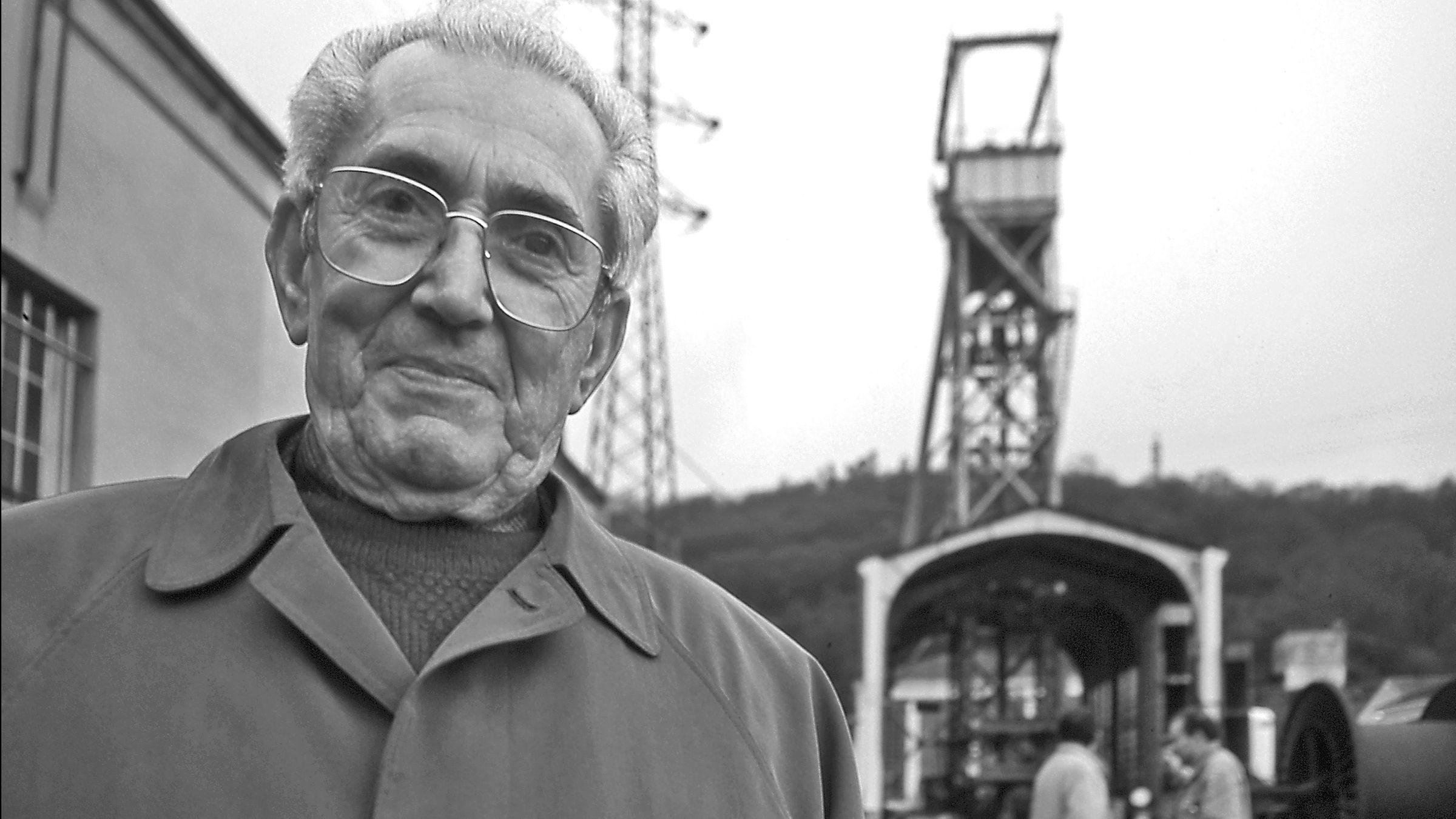 Marcelino Camacho en el Pozo Candin. Langreo. Asturias 1996