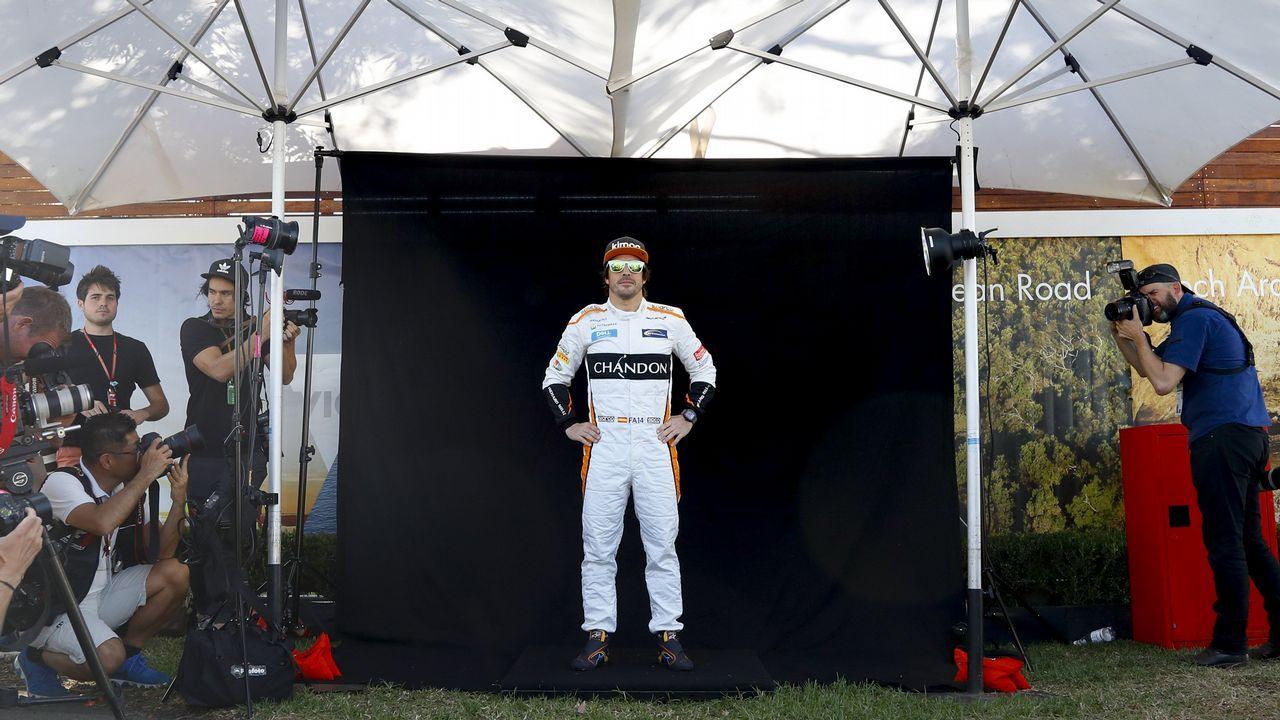 Montecalo amplía la flota de karts con la Fundación Fernando Alonso.El piloto español Fernando Alonso del equipo McLaren posa antes del Gran Premio de Australia de la Fórmula Uno 2018, en el Albert Park Circuit en Melbourne, (Australia) hoy, jueves 22 de marzo de 2018. El Gran Premio de Australia tendrá lugar el 25 de marzo de 2018.