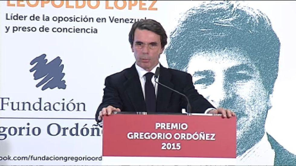 Aznar sobre la salida de Otegi: «Vuelven falsos profetas»