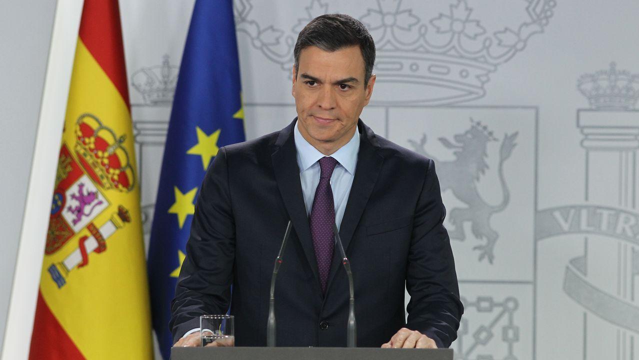 La ministra Reyes Maroto, de compras por Vigo.Sánchez anunció el reconocimiento de la legitimidad de Guaidó y reclamó de nuevo elecciones libres y transparentes