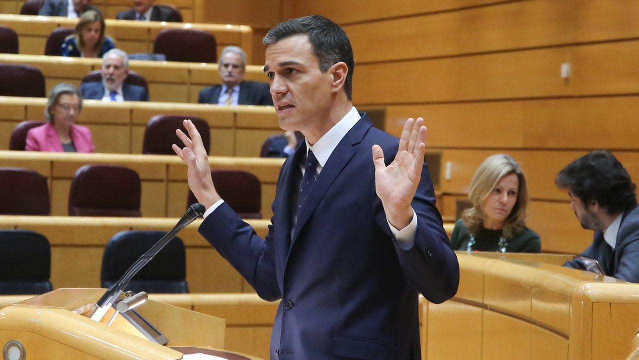 Cifuentes decide no declarar en la comisión del «caso Máster».El presidente del Gobierno, Pedro Sánchez, durante un pleno en el Senado