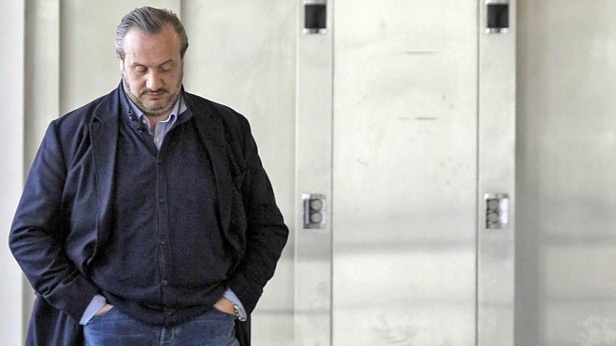 Dorribo, saliendo de una comparecencia en los juzgados en el año 2012