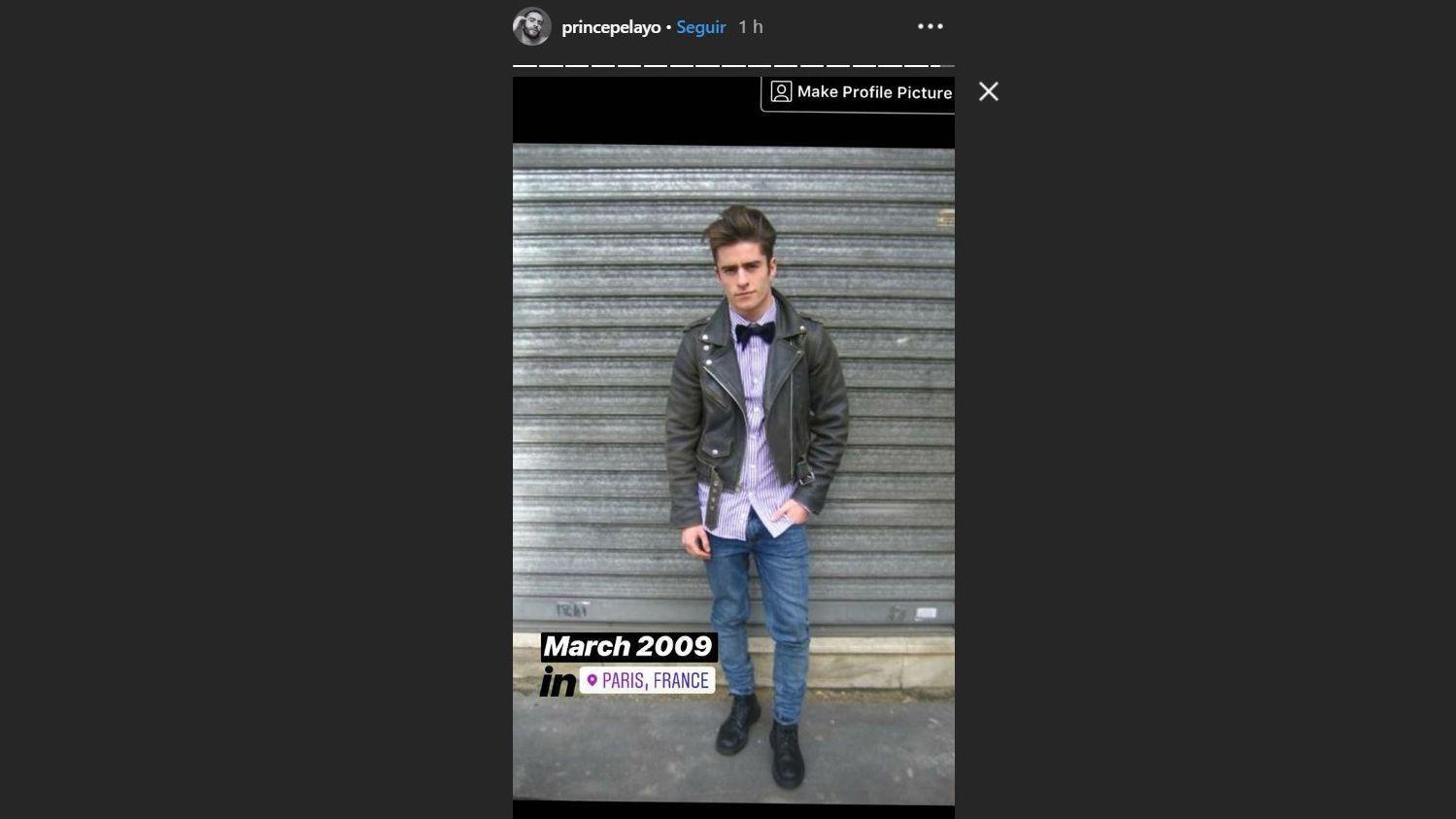 Captura del Instagram de Pelayo Díaz