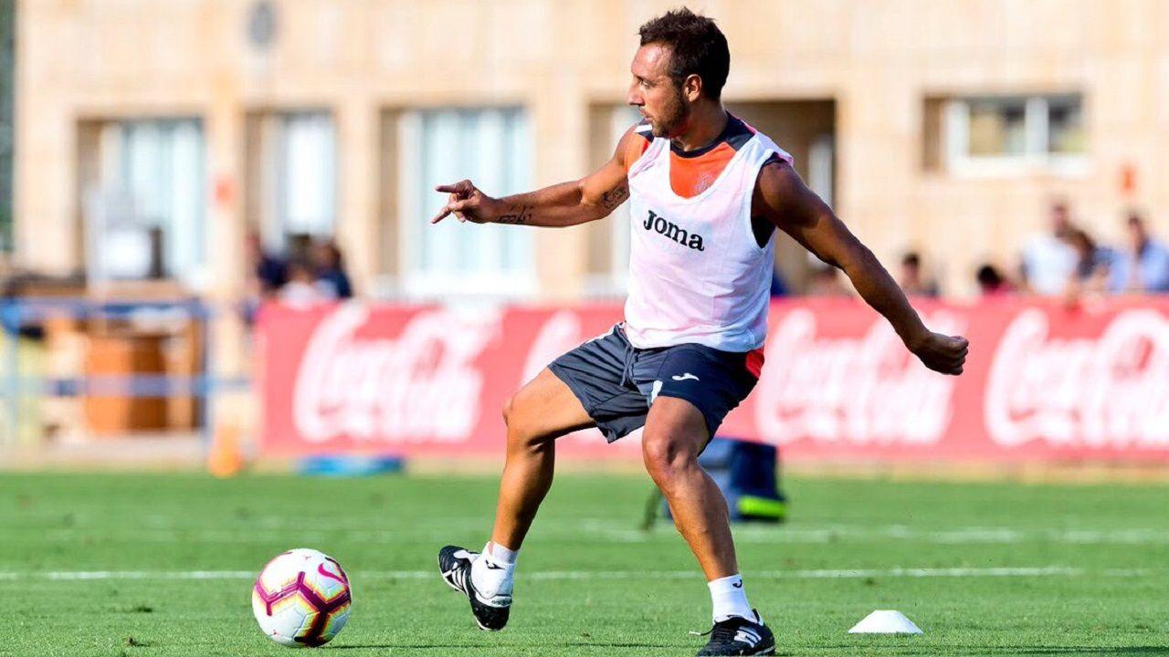 Santi Cazorla en un entrenamiento con el Villarreal