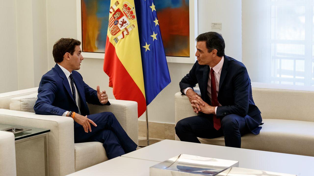 Podemos se vuelca con Alcoa y Arcelor.El secretario general de la FSA-PSOE, Adrián Barbón
