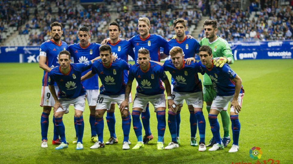 Alineación del Oviedo ante el Tenerife