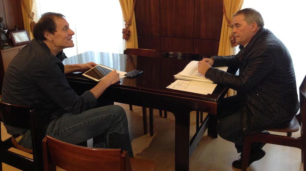 Reunión entre Anibal Vázquez y Jesús Sánchez.Reunión entre Anibal Vázquez y Jesús Sánchez