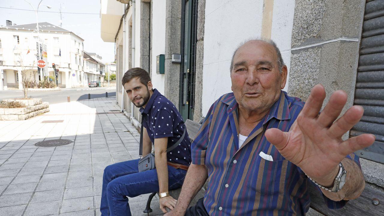Cecilio, vecino de Monterroso, es de los que apenas notó el terremoto con epicentro en Taboada de esta semana