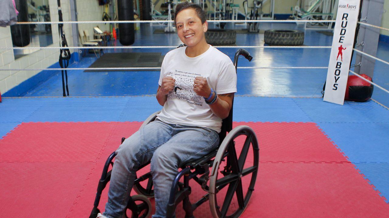 Lorena Bermúdez, un gancho a la esclerosis múltiple.Trujillo Suárez durante el Sporting-Numancia de esta temporada