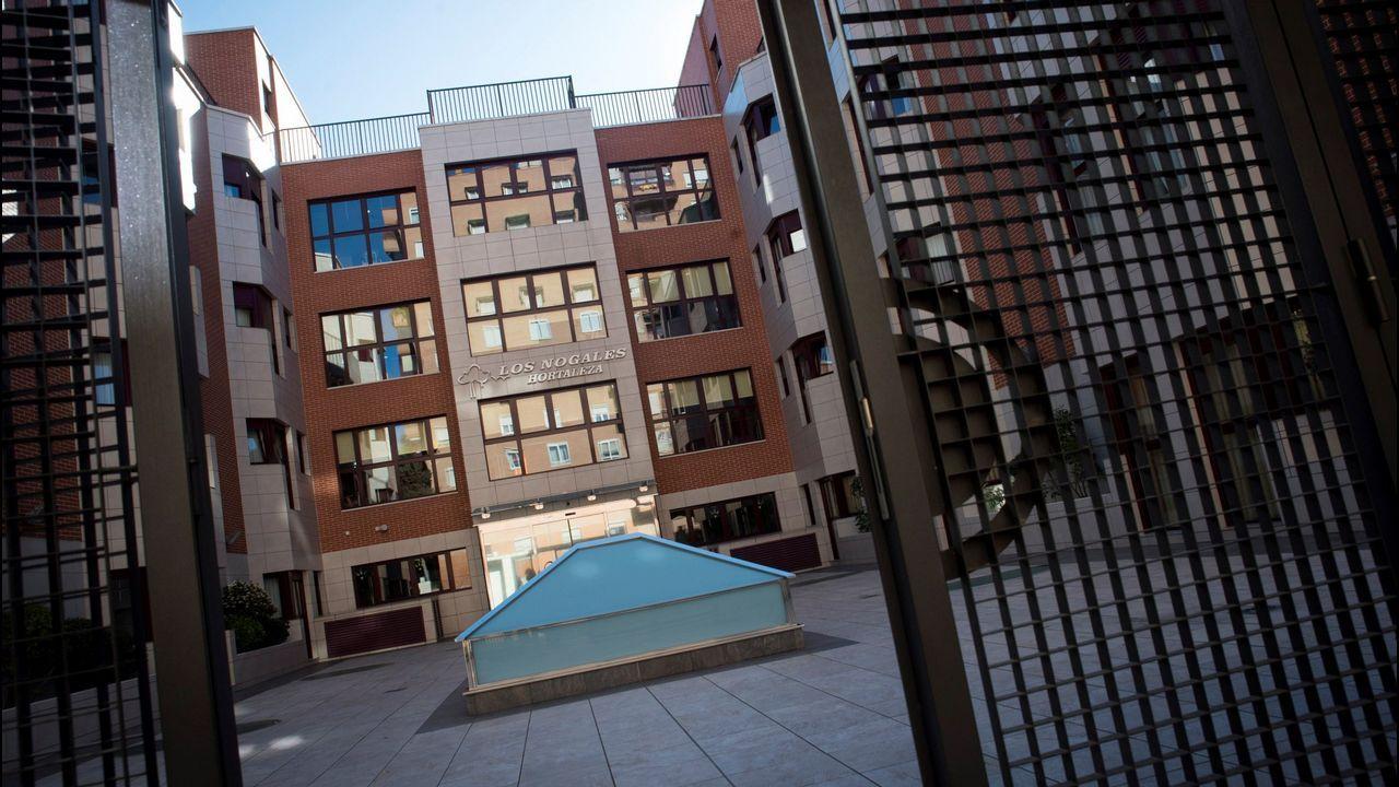 Fachada de la residencia Los Nogales, en Madrid