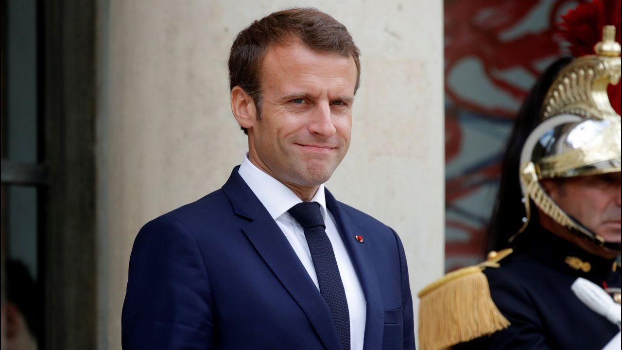 Macron recibió a May en Fort de Brégançon, un castillo del siglo XVII erigido sobre un peñón de la Costa Azul