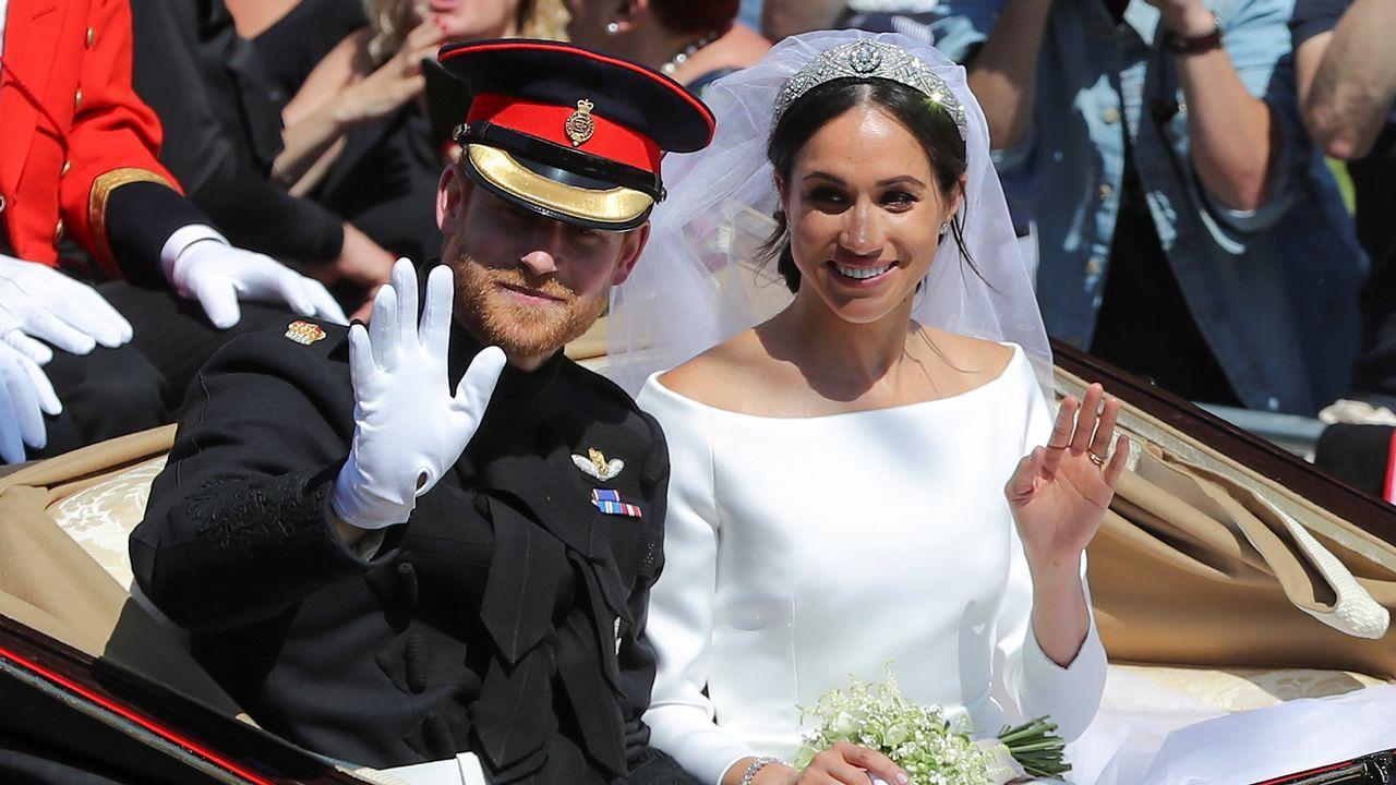El príncipe Harry y Meghan Markle se dan el «sí quiero».