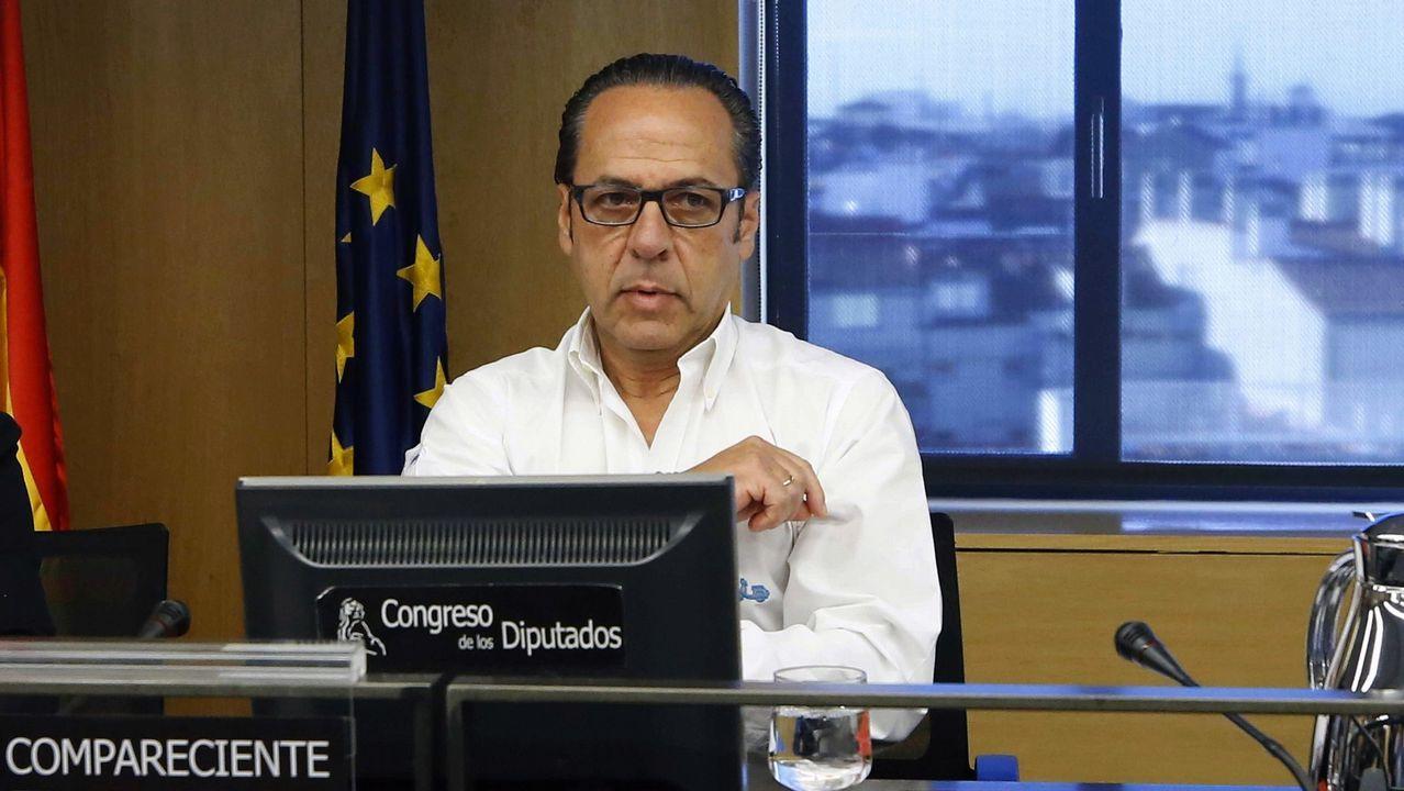 | EFE.Álvaro Pérez, en el 2018 en el Cogreso, en la comisión de investigación sobre la finaciación ilegal del PP