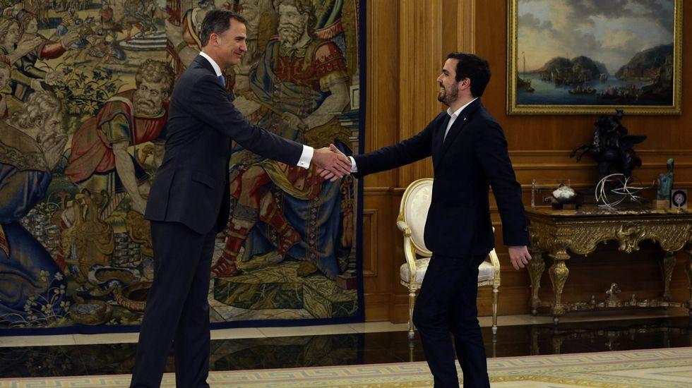 Junto a Alberto Garzón.
